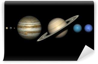 Vinylová Fototapeta Planety sluneční soustavy se správnými relativní velikosti.