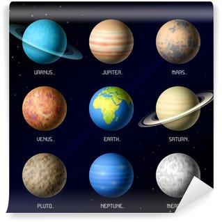 Vinylová Fototapeta Planety sluneční soustavy