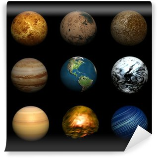Vinylová Fototapeta Planety