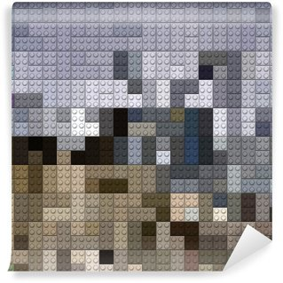 Vinylová Fototapeta Plastové cihly pozadí