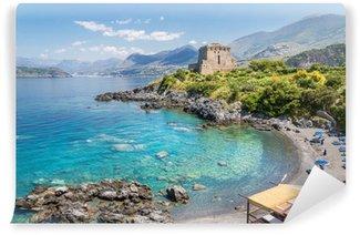 Vinylová Fototapeta Pláž v San Nicola Arcella, Calabria, Itálie