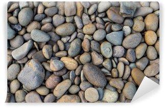 Fototapeta Vinylowa Plaża kamienista tło, tło wzór kamieni