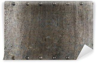 Vinylová Fototapeta Plech nebo brnění textura s nýty