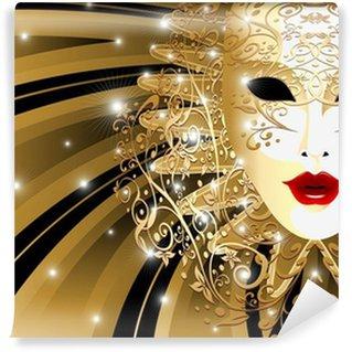 Vinylová Fototapeta Ples d'Oro Astratta - Abstract Golden Mask - Vector
