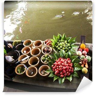 Fototapeta Winylowa Pływający targ, Tajlandia