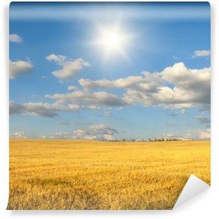 Fototapeta Vinylowa Pochyła pole pszenicy