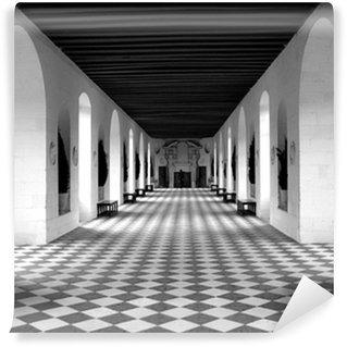 Fototapeta Winylowa Podłoga w szachownicę