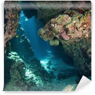 Vinylová Fototapeta Podvodní jeskyně se slunečním světlem