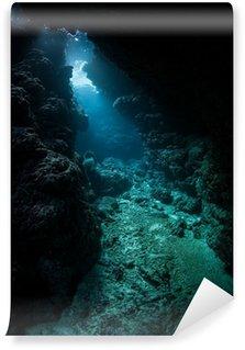 Vinylová Fototapeta Podvodní jeskyně