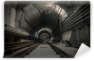 Vinylová Fototapeta Podzemní tunel pro metro