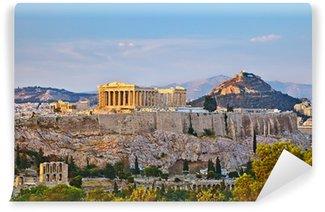 Vinylová Fototapeta Pohled na Akropoli při západu slunce