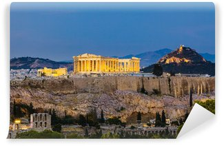 Vinylová Fototapeta Pohled na Akropoli v noci
