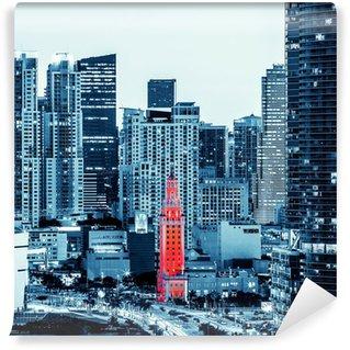Vinylová Fototapeta Pohled na centrální Miami