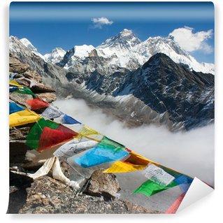 Vinylová Fototapeta Pohled na Everest z Gokyo ri - cesta k Everest base campu