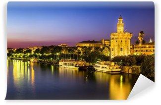Vinylová Fototapeta Pohled na Golden Tower (Torre del Oro) v Seville, Andalusie, Španělsko