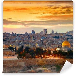 Vinylová Fototapeta Pohled na Jeruzalém staré město. Izrael
