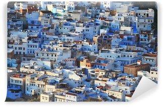 Vinylová Fototapeta Pohled na město Chefchaouen v horském Rif v Maroku