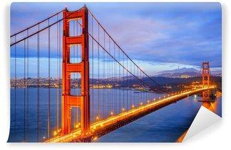 Vinylová Fototapeta Pohled na slavného mostu Golden Gate v noci