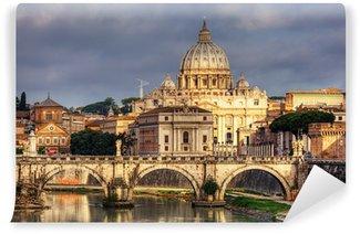 Vinylová Fototapeta Pohled na Svatopetrském chrámu v Římě, Itálie