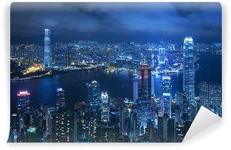 Vinylová Fototapeta Pohled na Victoria přístavu z vrcholu v Hong Kongu
