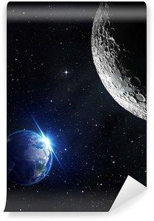 Vinylová Fototapeta Pohled z Měsíce - východ slunce na Zemi