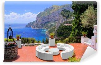 Vinylová Fototapeta Pohled z terasy na luxusním ostrově Capri, Itálie