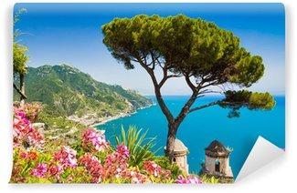 Vinylová Fototapeta Pohlednice pohled na pobřeží Amalfi, Ravello, Campania, Itálie