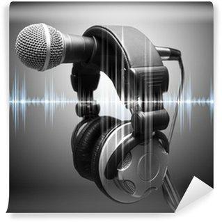 Vinylová Fototapeta Pojem hudby a nahrávací studio