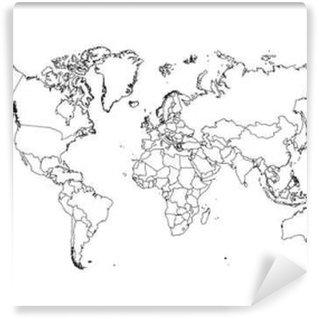 Vinylová Fototapeta Politické Mapa světa vektorové ilustrace.