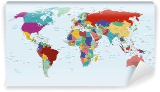 Fototapeta Winylowa Polityczna mapa swiata