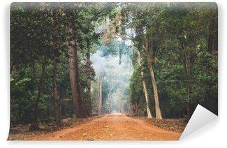 Vinylová Fototapeta Polní cesta táhnoucí se přes kambodžské džungli.