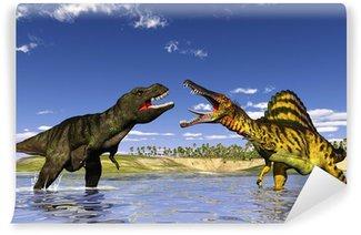 Fototapeta Winylowa Polowanie dinozaurów