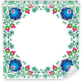 Vinylová Fototapeta Polský květinové folk vyšívací rámeček vzor - wzory lowickie