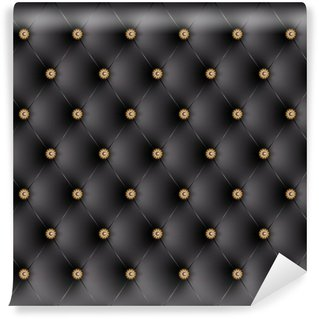 Vinylová Fototapeta Polstrované černé ozdobné knoflíky-1