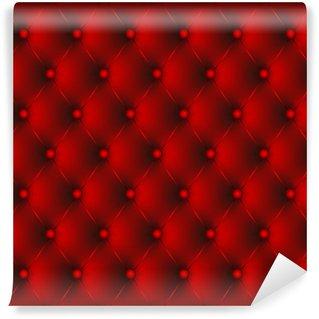 Vinylová Fototapeta Polstrované červená červená tlačítka-1