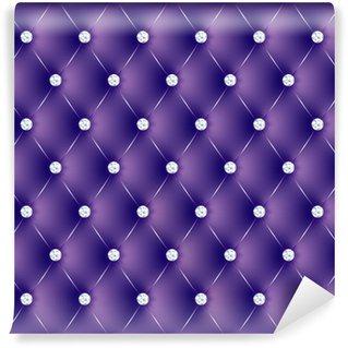 Vinylová Fototapeta Polstrované fialová tlačítka diams-1
