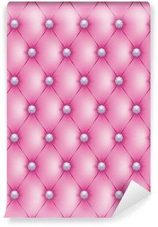 Vinylová Fototapeta Polstrované růžová tlačítka diams-1