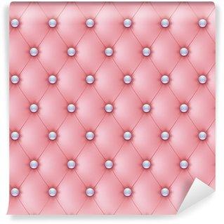 Vinylová Fototapeta Polstrované růžové perleťové knoflíky-1