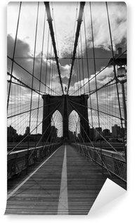 Vinylová Fototapeta Pont de Brooklyn Noir et Blanc - New York