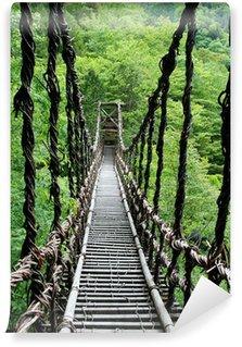 Vinylová Fototapeta Pont de Lianes Kazura-bashi à Oku Iya, Shikoku, Japon