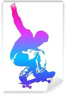 Vinylová Fototapeta Pop art ilustrace skateboardista