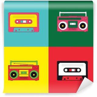 Vinylová Fototapeta Pop Art Radio Cassette