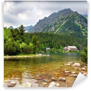 Fototapeta Winylowa Popradzkim pleso - Słowacja górski krajobraz w lecie