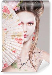 Vinylová Fototapeta Portrét atraktivních mladých žen v asijském stylu