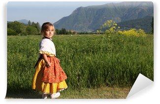 Vinylová Fototapeta Portrét holčička v provensálském kostým