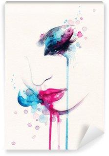 Fototapeta Winylowa Portret kobiety .abstract tle akwarela .fashion
