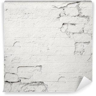 Vinylová Fototapeta Poškozené bílá cihlová zeď