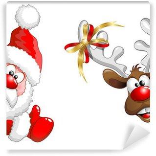 Vinylová Fototapeta Posuvné nebo Babbo Natale a-Funny Santa Claus a sob