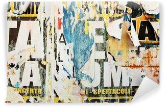 Vinylová Fototapeta Potrhané reklamní plakáty