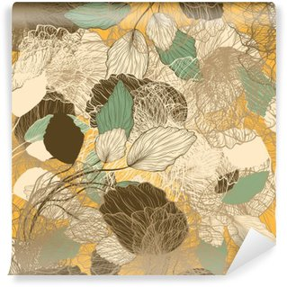 Fototapeta Winylowa Powtarzalny streszczenie kwiatowy wzór